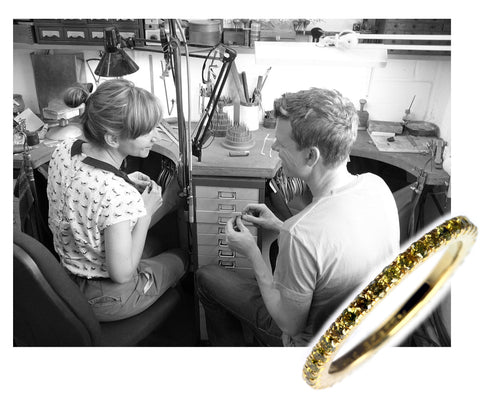 Jana and Ross in their first jewellery workshop