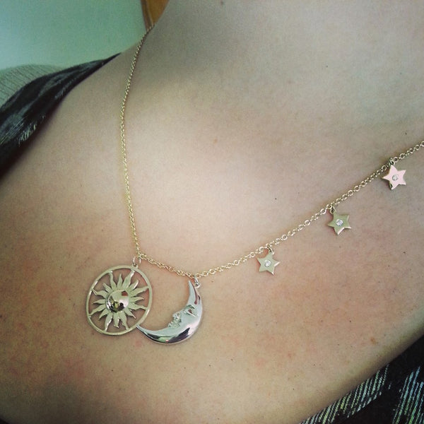 Bespoke Moon and Star pendant