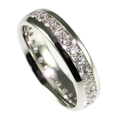 Platinum Diamond Eternity Rings, Handmade by Jana Reinhardt Ltd
