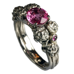 Pink Engagement Rings - Platinum Ring with Pink Sapphires by Jana Reinhardt Jewellery