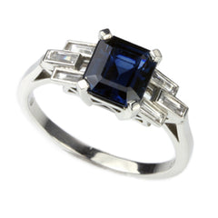 Sapphire Engagement Rings with Blue and White Sapphires by Jana Reinhardt Jewellery