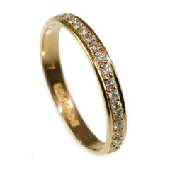 Rose Gold Half Eternity Ring, Handmade by Jana Reinhardt Ltd