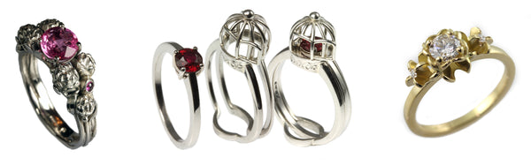 unusual engagement rings by Jana Reinhardt