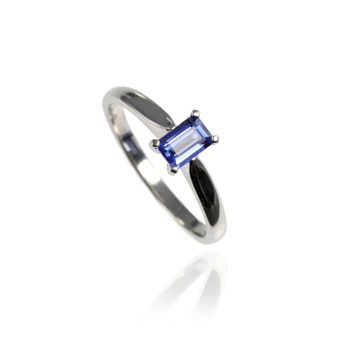 White Gold and Tanzanite Engagement Ring