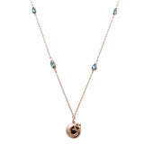 Cat Necklace with blue topaz - Jana Reinhardt Ltd - 6