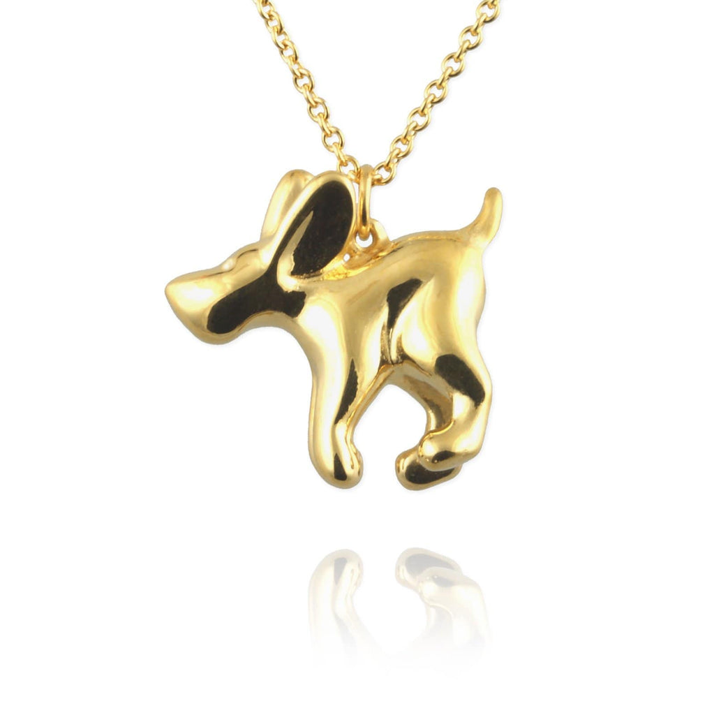 Golden Dog Necklace