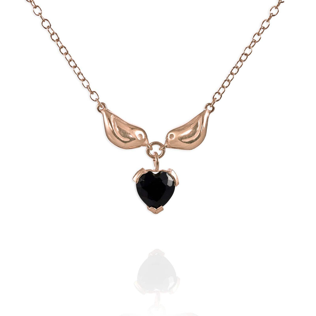 Gold Sparrow Heart Necklace - Jana Reinhardt Ltd - 2