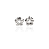 Halo Flower Ear Studs - Jana Reinhardt Ltd - 2