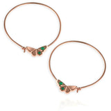Butterfly Hoop Earrings with Emeralds - Jana Reinhardt Ltd - 2