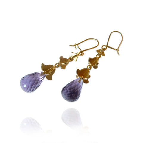 Rock Flower Drop Earrings