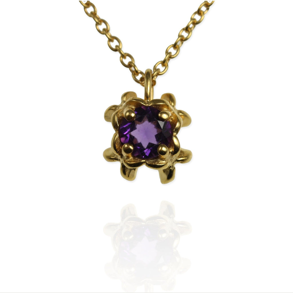 Small Rock Flower Pendant with Amethyst - Jana Reinhardt Ltd - 3