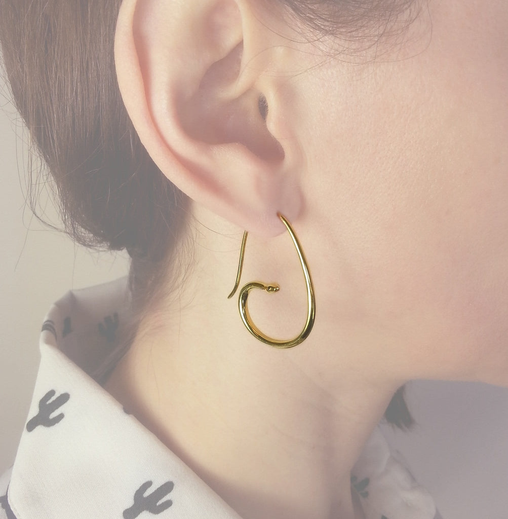 Snake Hoop Earrings - Jana Reinhardt Ltd - 4