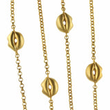 Golden Lip Necklace | Contemporary Jewellery - Jana Reinhardt Ltd - 1