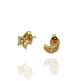 Moon and Star Earrings - Jana Reinhardt Ltd - 3