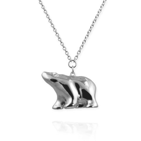 Polar Bear Pendant Necklace