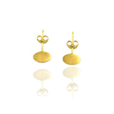 Single Ellipse Ear Studs - Jana Reinhardt Ltd - 6