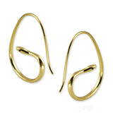 Snake Hoop Earrings with black diamonds - Jana Reinhardt Ltd - 4
