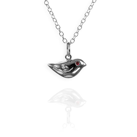 Silver Sparrow Charm Necklace