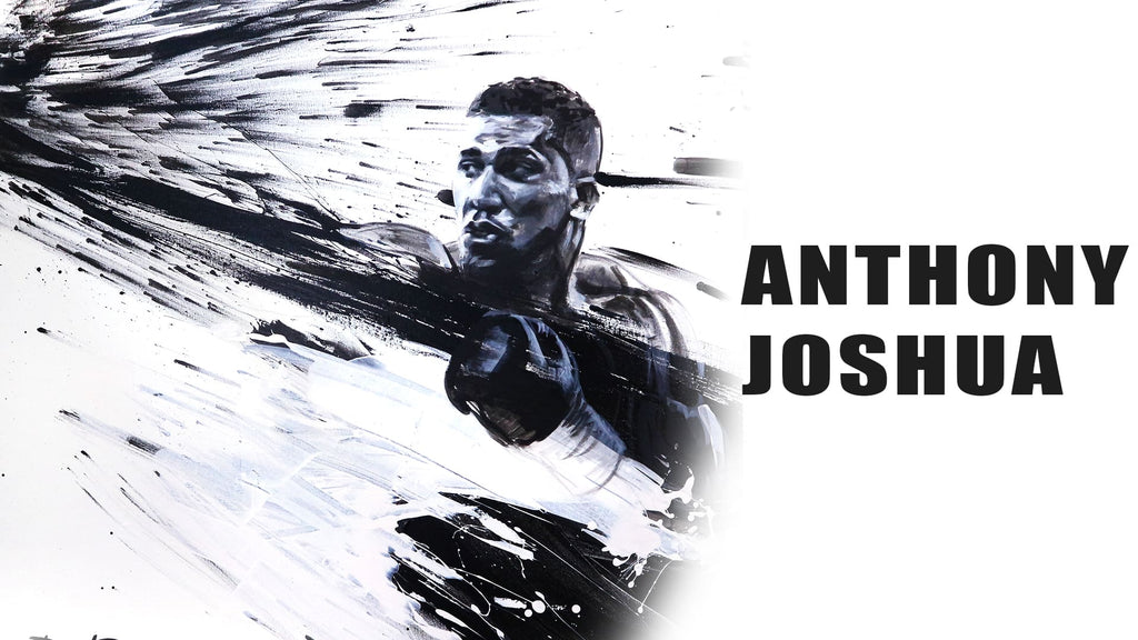 Large painting of boxer Anthony Joshua
