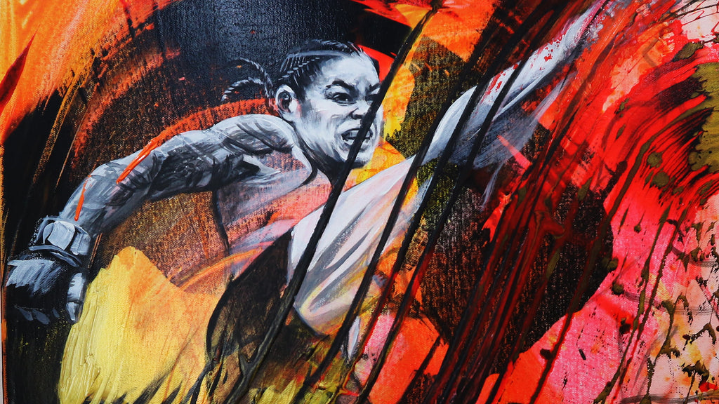 Painting of Amanda Nunes (from Nunes VS Holm UFC 239 fight)
