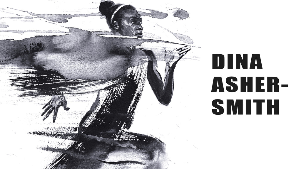 Painting of sprinter Dina Asher-Smith