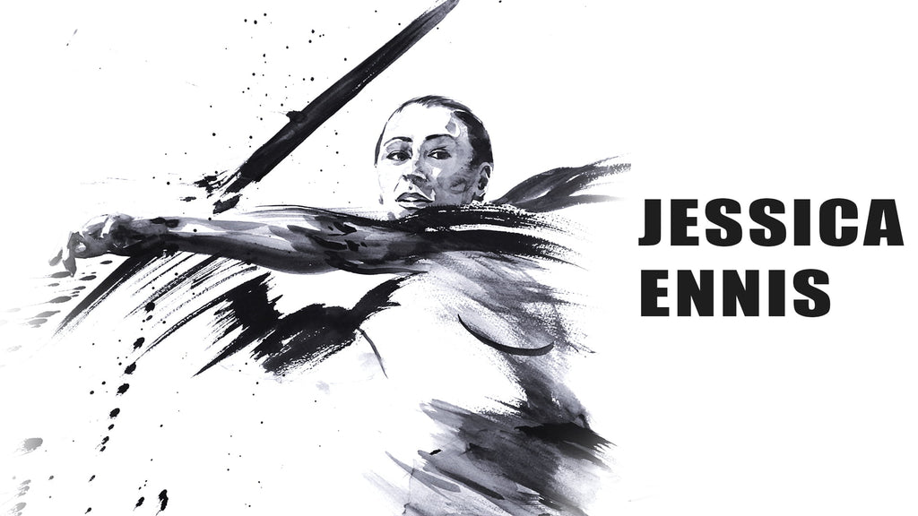 Painting of Jessica Ennis-Hill