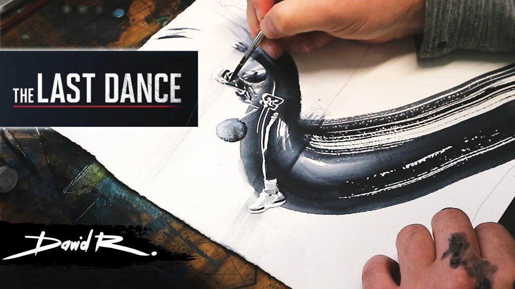 Painting Michael Jordan - Part 1 The sketches (The Last Dance)