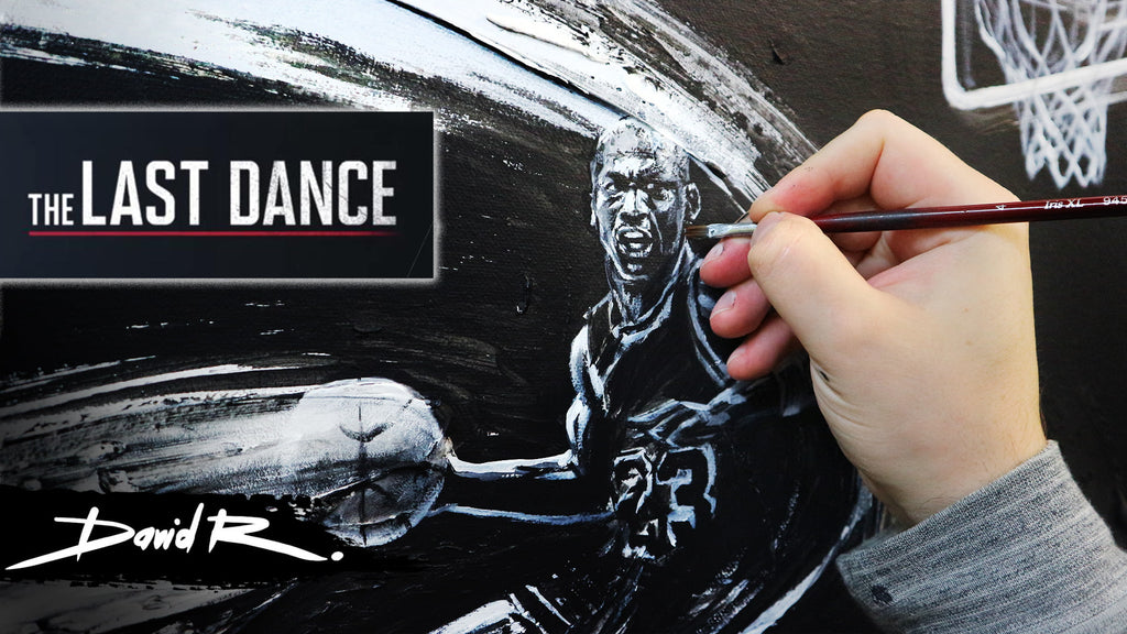 Painting Michael Jordan - Part 2 The final canvas (The Last Dance)
