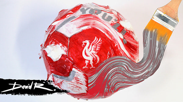 Custom painted Liverpool FC football