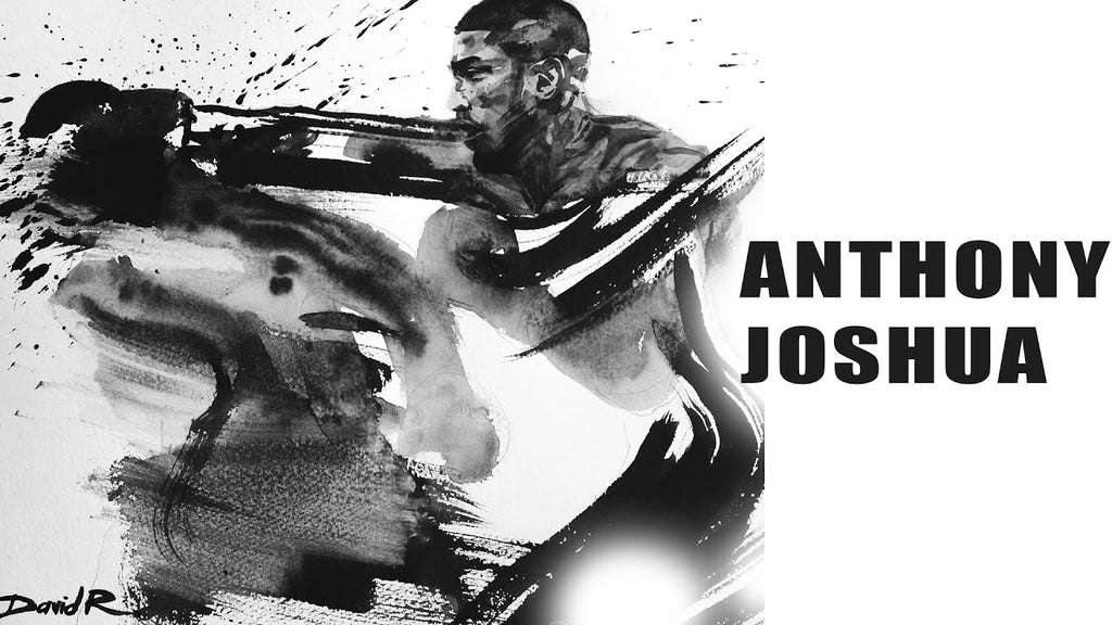 Painting of Anthony Joshua