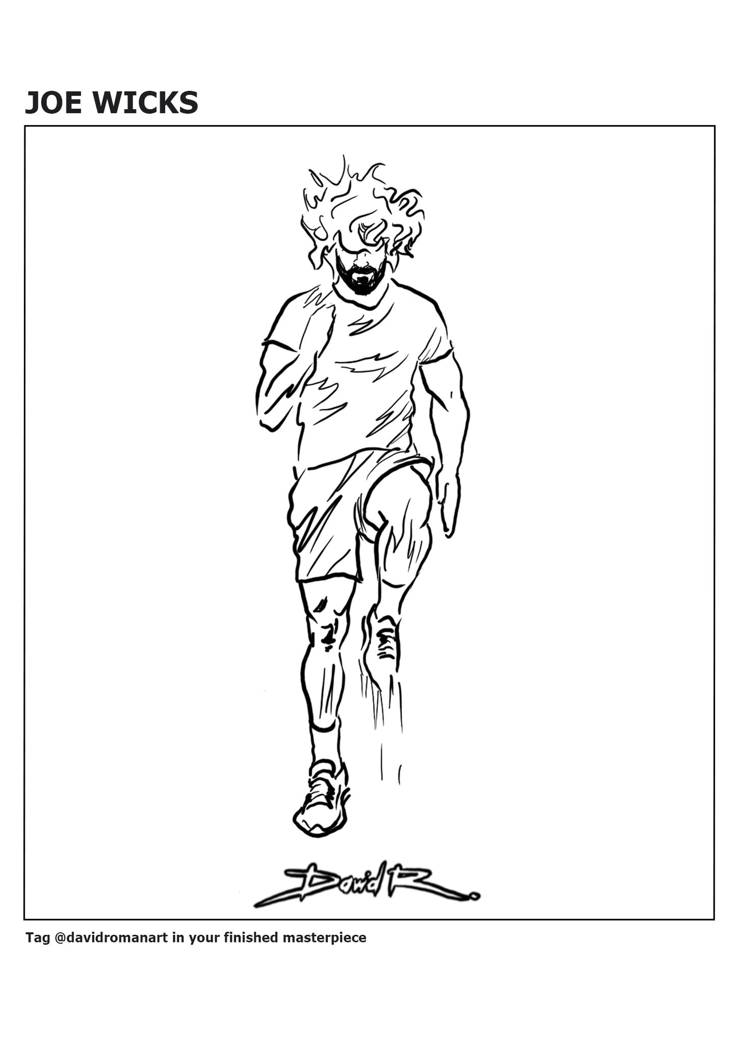 david roman art joe wicks colouring pages pe lessons