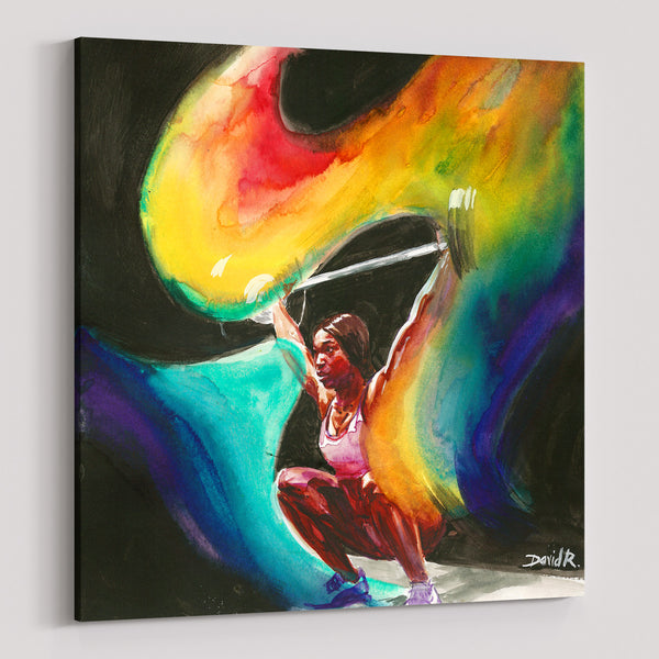 david roman art 11 paintings that will inspire you to just move movement sports art weightlifting woman