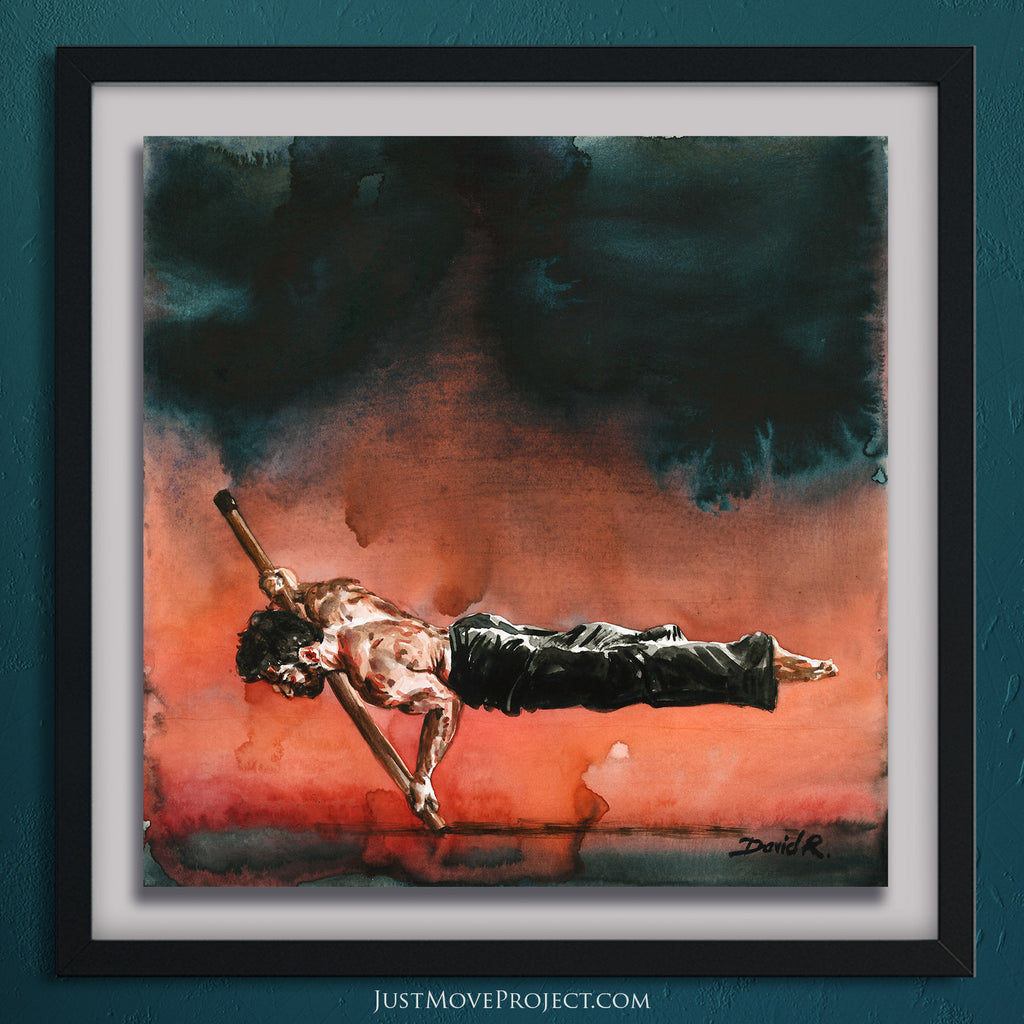 Original Painting #355 of JUST MOVE | Extreme hand balance movement
