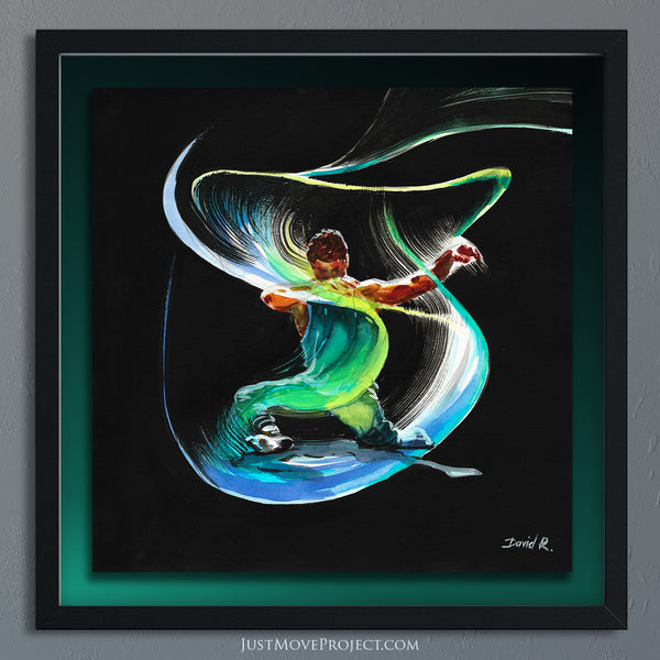Original Painting #358 of JUST MOVE | Jon Yuen movement flow