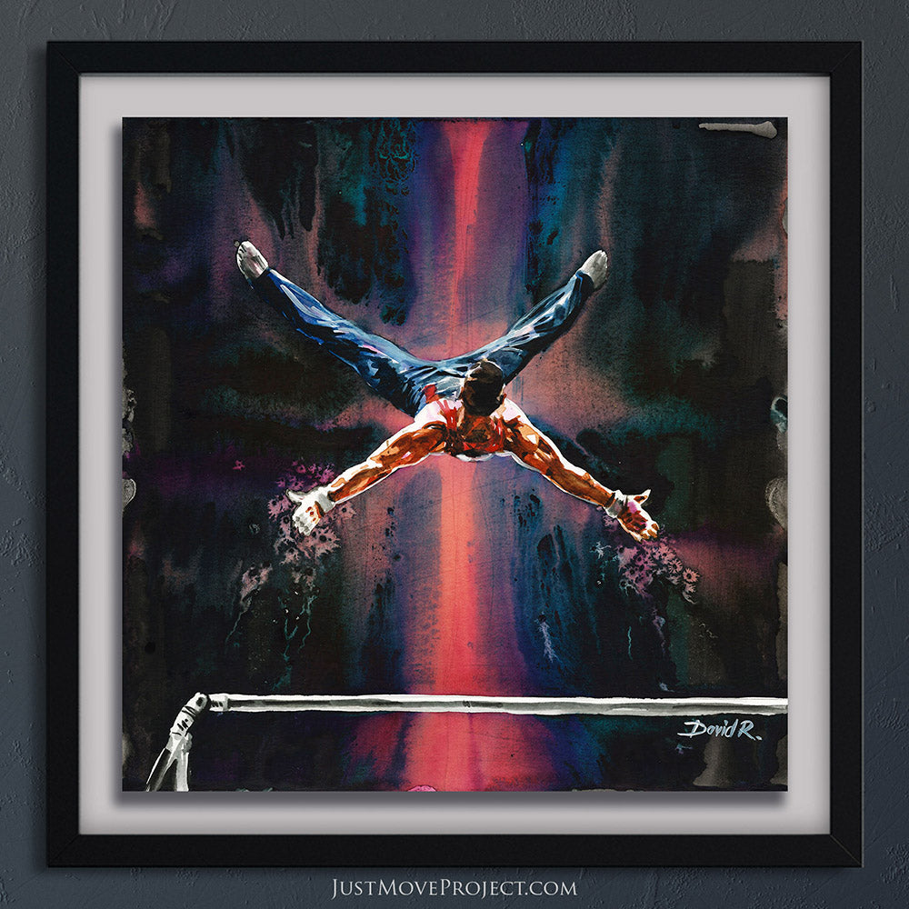 Original Painting #364 of JUST MOVE | Samuel Mikulak Olympic Gymnast