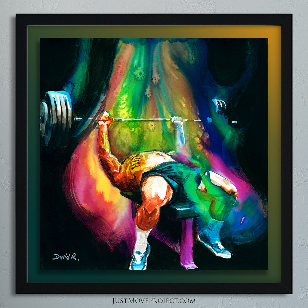 Original Painting #392 of JUST MOVE | Powerlifter Brandon Allen