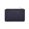 ESTELLA BARTLETT NAVY 'WOMAN ON A MISSION' CARD PURSE