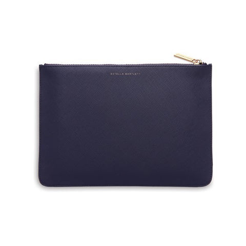 ESTELLA BARTLETT NAVY 'LIVE AS YOU DREAM' MEDIUM POUCH
