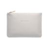 ESTELLA BARTLETT PALE GREY 'ESCAPE THE ORDINARY' MEDIUM POUCH