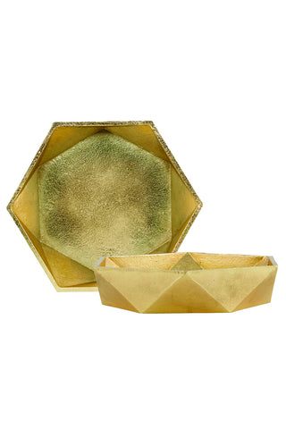 HOUSE DOCTOR - GOLD GEO BOWL -  - BOWL - THE HOUSE JAR