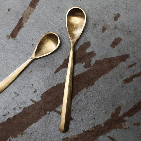 JAHI BRUSHED GOLD SPOON - 2 SIZES