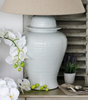 BIGGIE BEST - PALE GREY WHITE OVERSIZED JAR LAMP AND SHADE SET -  - LAMP - THE HOUSE JAR - 2