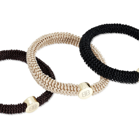 BOHO BETTY NEUTRAL TRIO HAIR TIES SET