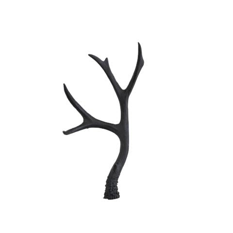 LARGE BLACK RESIN ANTLER DECORATION