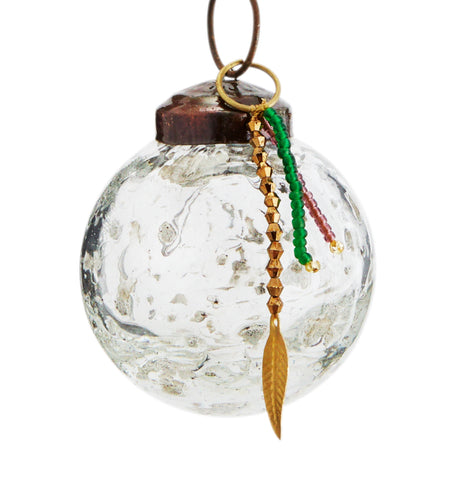 RECYCLED BUBBLE GLASS BAUBLE - 3 SIZES