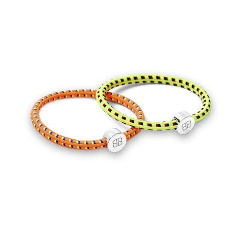 ORANGE AND LEMON MULTI COLOURED HAIR TIE SET