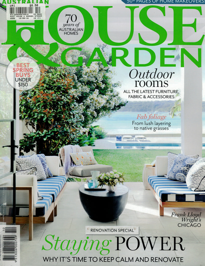 House and Garden October 2018 Cover