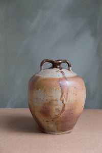 19th Century Puisaye French Olive Oil Jar