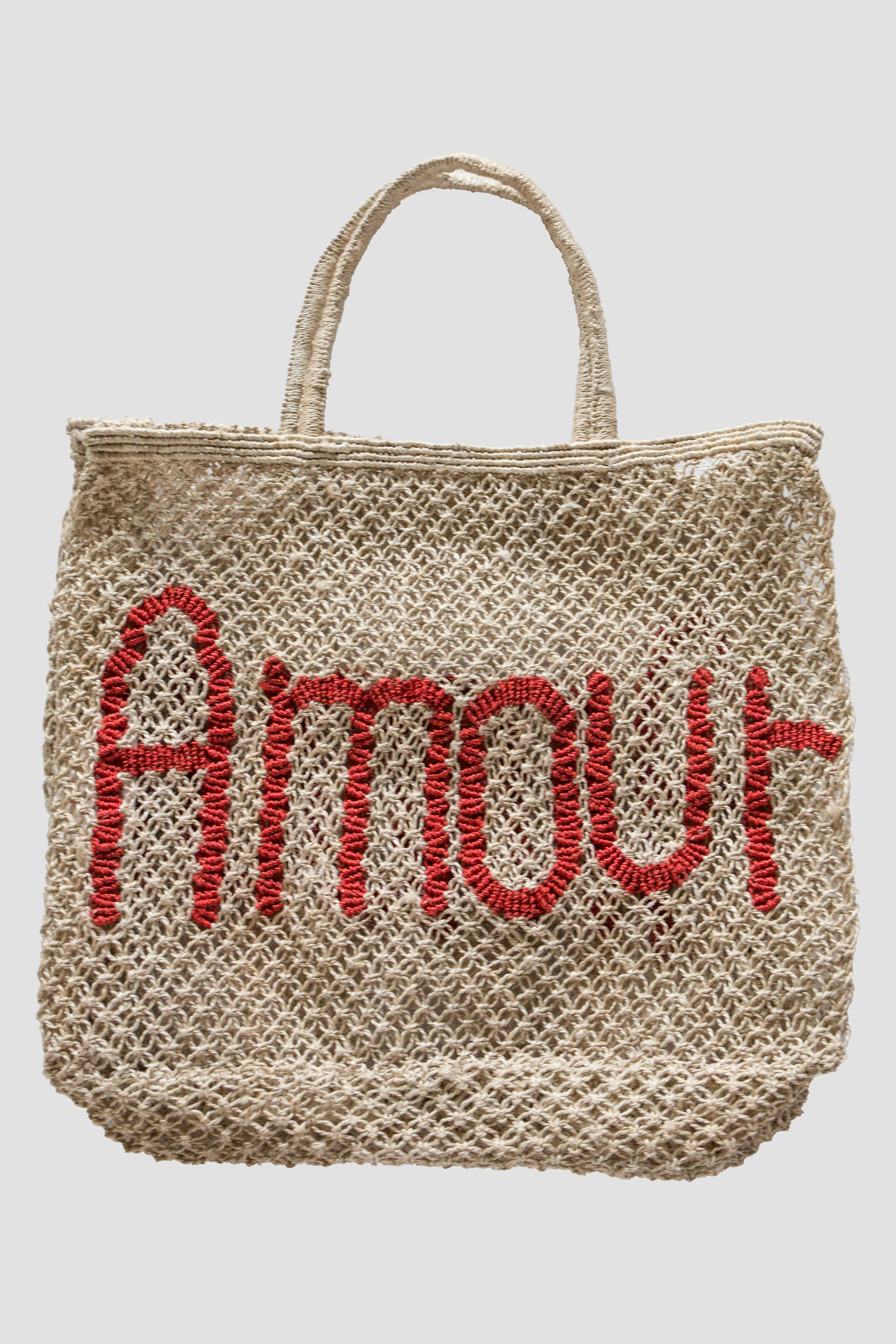 Amour Jute Bag - Nat/Red