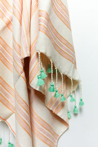 Artisan Project Beach Towel Stripes Pom Poms